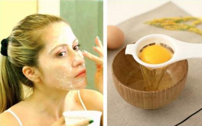 clara de huevo para la piel
