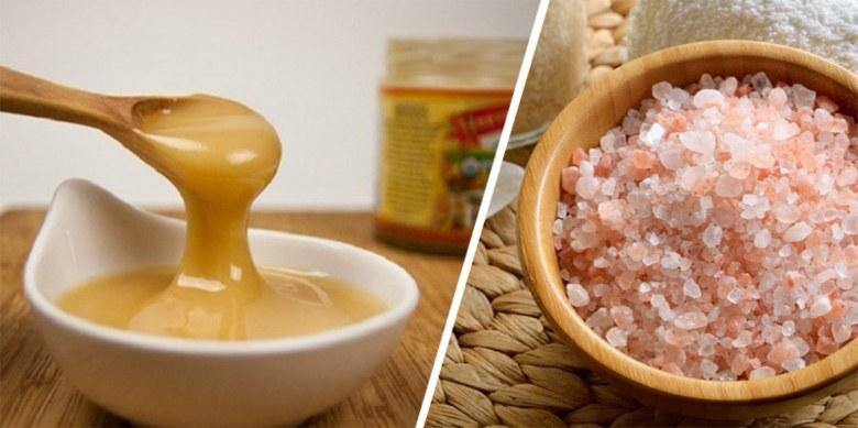 miel y sal de himalaya