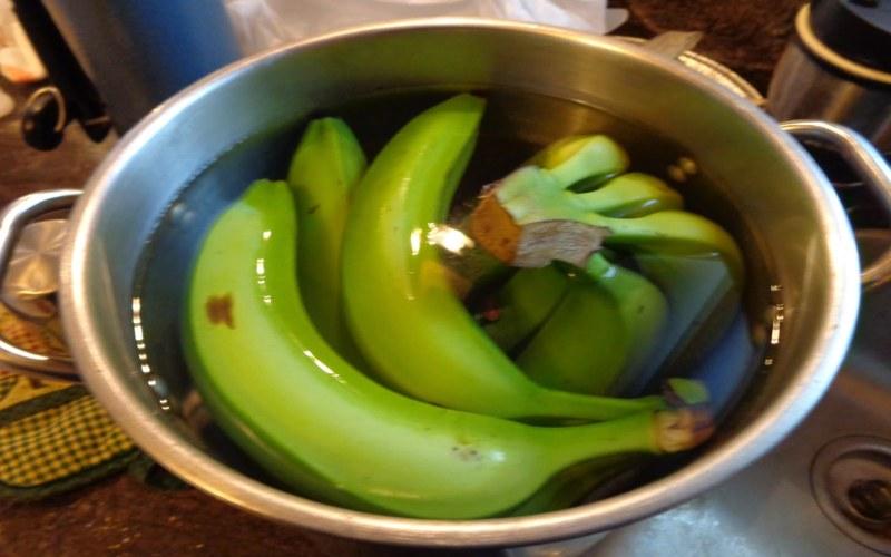 te de banana con canela