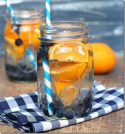 arandanos y naranja